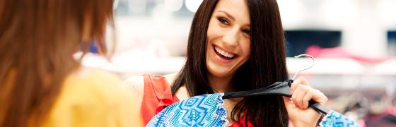 Shoppen Frauen Kleidung Kunden binden
