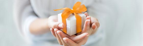 Incentive kleines Geschenk Hand