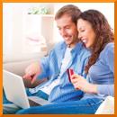 Mann Frau Paar Laptop Kunden binden