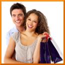 Mann Frau Einkauf Kunden binden