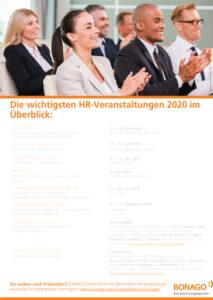 Übersicht der Personalmessen und HR-Events in Deutschland 2020