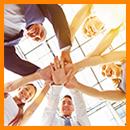 VUCA meistern, Hände, Teamwork